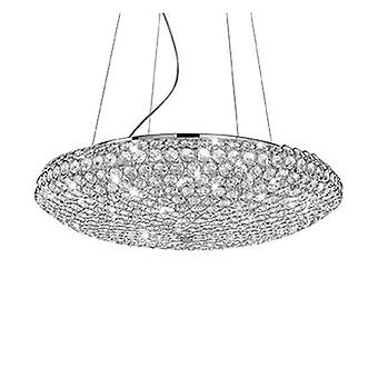 12 lumière grand plafond pendentif chrome