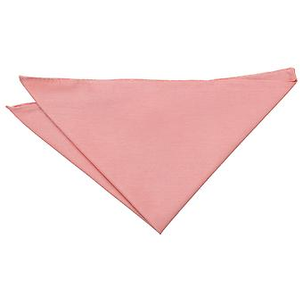 Peach Pink Shantung Pocket Square