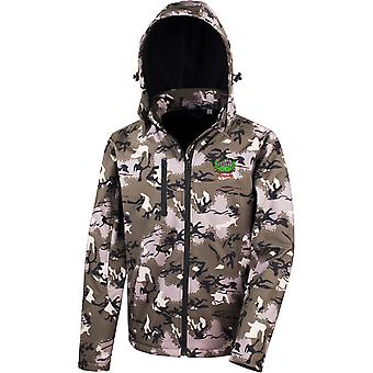 Gloucestershire Regiment Veteran - Licensed British Army Embroidered Performance Hooded Camo Softshell Jacket