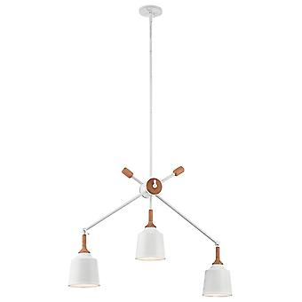 Elstead - 3 Light Linear Chandelier - White Finish - KL/DANIKA3
