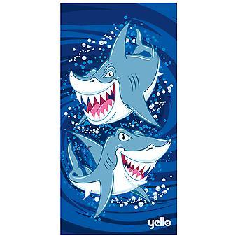 Yello strand håndklæde-hajer design