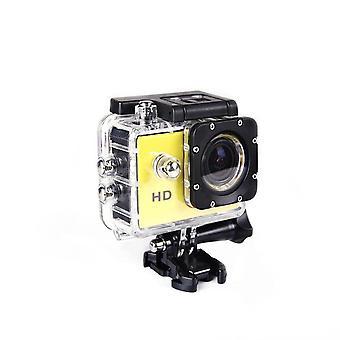 Actie onderwatercamera Ultra HD waterdichte sport camera groothoekcamera Kit geel