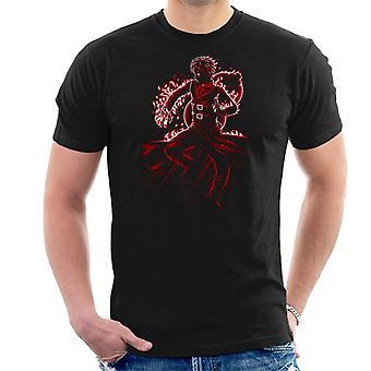 Gaara Battle Fire Naruto Men's T-Shirt