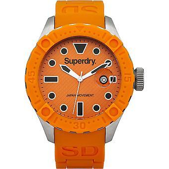 Superdry Mens Gents Scuba Deepsea Orange Wrist Watch SYG140O