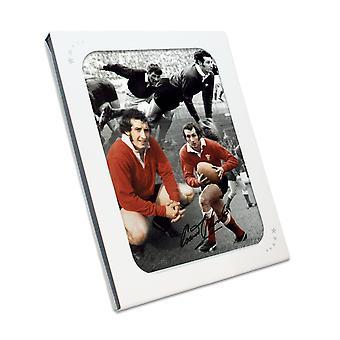 Gareth Edwards undertecknat Wales Rugby fotografi i presentförpackning