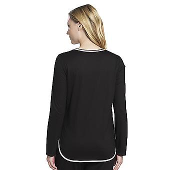 Rosch 1193735-10995 Women's Pure Black Cotton Pyjama Top