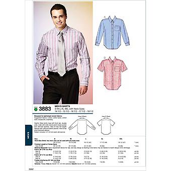 Shirts  S  M  L  Xl  Xxl With Neck Sizes 14 1 2  15 1 Pattern K3883