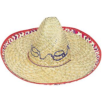 Adult Sombrero with Checker Trim 6587