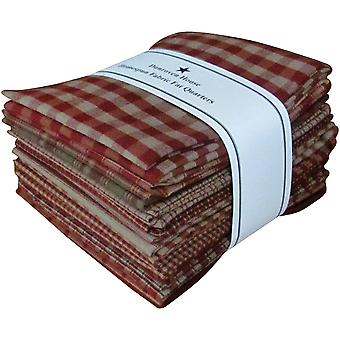 Fat Quarter Bundles Red Homespun 12 Pieces 18