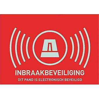 Warning label Alarm secured Languages Dutch (W x H) 148 mm x 10