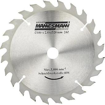 Brüder Mannesmann 12897 Carbide saw blade, Diameter: 185 mm