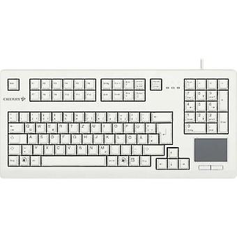 USB keyboard CHERRY TOUCHBOARD G80-11900 Grey Touch surface, Mouse buttons