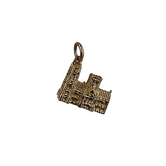 9ct Gold 13x18mm Westminster Abbey Pendant or Charm