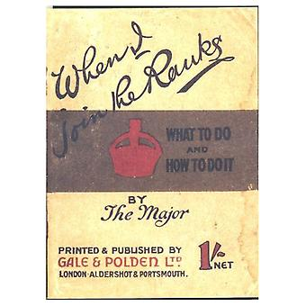 WW1 Replica 'When I Join the Ranks' Booklet