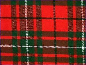 MacAulay Red, Modern - Pure Wool Tartan