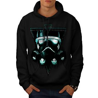 Wellcoda | Storm Trooper Star Mens Black Hoodie