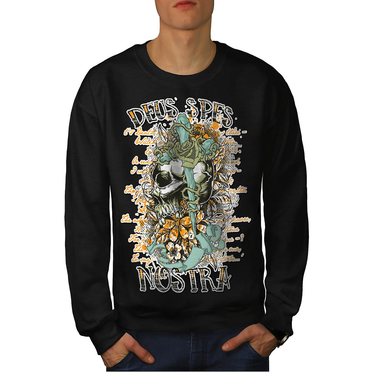 Monster Skull Curse Death Land Men Black Sweatshirt | Wellcoda