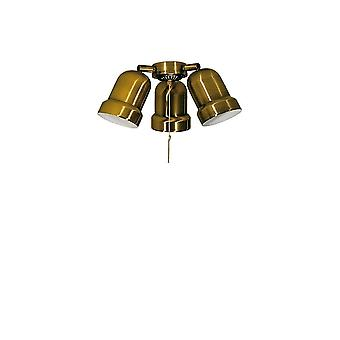 Add on light kit N 233 for Deko Elektro ceiling fans in brass