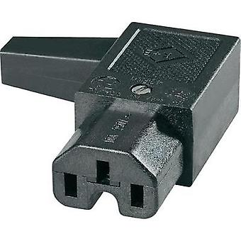 Hot wire connector C15 Series (mains connectors) 43R Socket, right angle