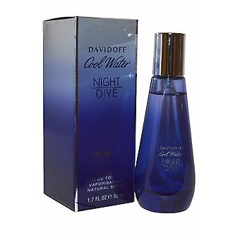 Davidoff Cool vatten natt dyk Woman Eau de Toilette Spray 50ml