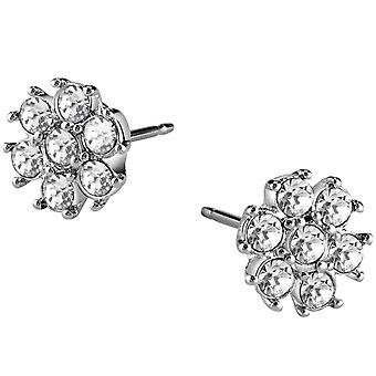 Guess ladies earrings flower stainless steel cubic zirconia UBE21541