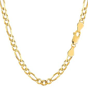 10k Yellow Gold Royal Figaro Chain Bracelet, 4.0mm, 8