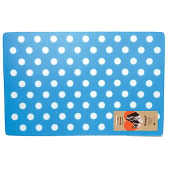 Stoneware Placemat Polka Dot Blue (Pack of 6)