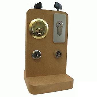 Lockpick Versatile pratique à bord 4 serrures différentes