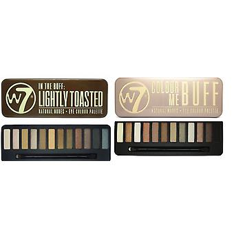 W7 Eyeshadow Palettes- (Colour Me Buff' + Lightly Toasted)