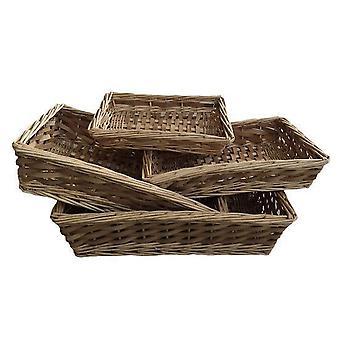 Spaanhout lade, Set van 4