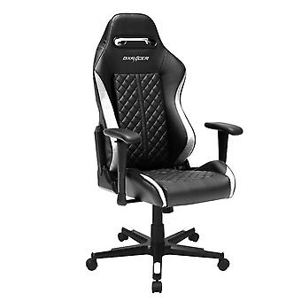 DX Racer DXRacer OH/DF73/NW High-Back Desk Chair Boss Office Chair PU(Black/White)