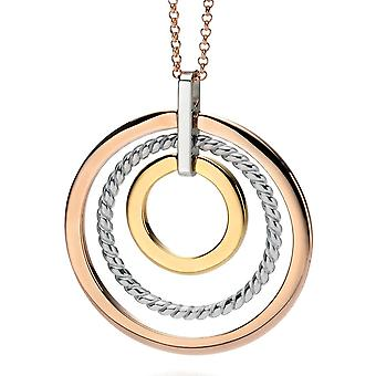 925 Silver Rose Gold Plated Fashionable Necklace