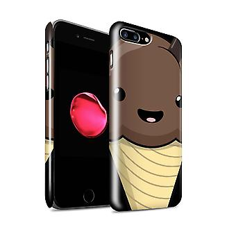 STUFF4 Gloss Hard Back Snap-On Phone Case for Apple iPhone 7 Plus / Chocolate Ice Cream Design / Kawaii Food Collection
