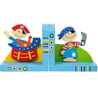 Bigjigs Toys Wooden Bookends (Pirate)