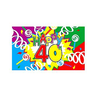Happy 40th Birthday Flag