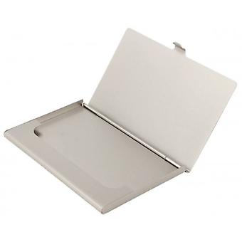 KJ Beckett pianura argento placcato Business Card Holder