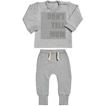 Spoilt Rotten Don't Tell Mum Sweatshirt & Joggers Baby Outfit Set