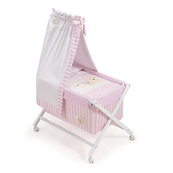 Interbaby Minicuna Honey With Love Pink Canopy Model