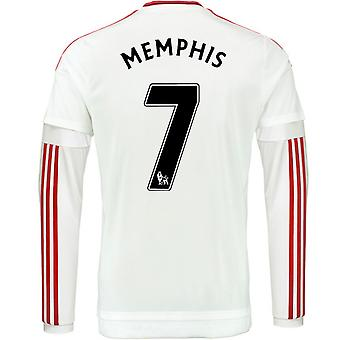 2015-2016 Man Utd Long Sleeve Away Shirt (Memphis 7)