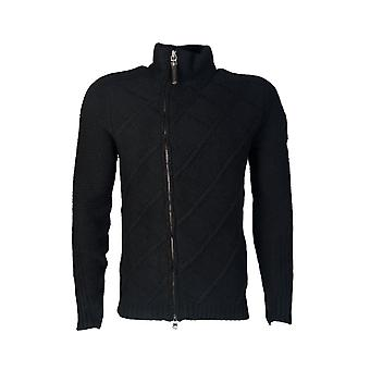 Armani Jeans Armani Jeans Knitted Cardigan In Black And Navy Blue Z6W49VM