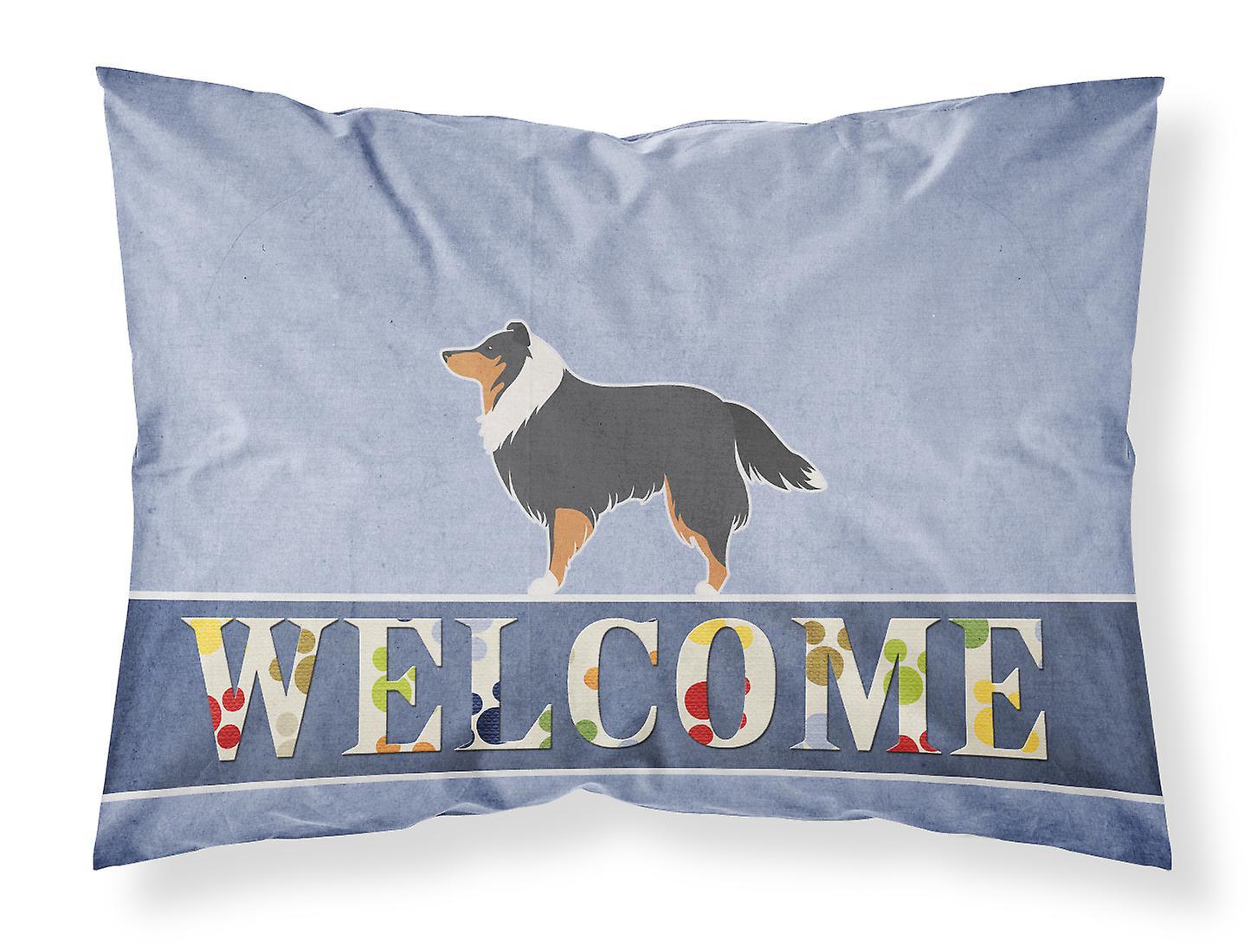 De Sheepdog Taie shetland Tissu Bienvenue Standard Sheltie D'oreiller srBtQohCxd