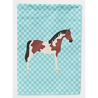 Carolines tesoros BB8081GF Pinto caballo azul Check bandera jardín tamaño