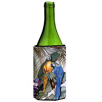 Carolines Treasures  JMK1195LITERK Parrots Wine Bottle Beverage Insulator Hugger