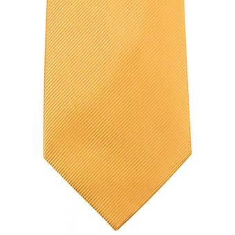 Knightsbridge Neckwear Plain Diagonal Ribbed Tie - Yellow