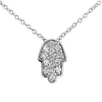 Hamsa Hand - 925 Sterling Silver Jewelled Necklaces - W23796X