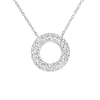 Circle - 925 Sterling Silver Jewelled Necklaces - W26280x