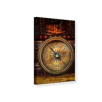 Leinwand drucken antiker Kompass