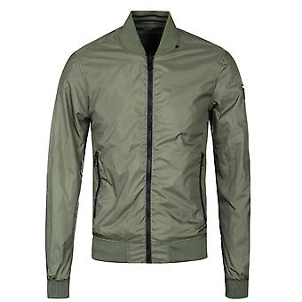Replay Green Reversible Bomber Jacket