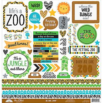 At The Zoo Cardstock Stickers 12