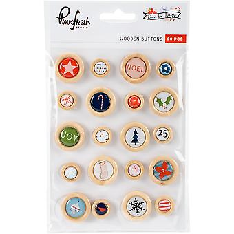 December Days Wooden Stickers 20/Pkg-Buttons RC500617